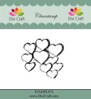 Dixi Craft - Clearstamp - Sketch Hearts