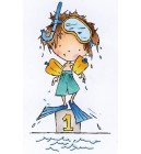 Marianne Design Clearstamp - Don & Daisy - Swimming Don
