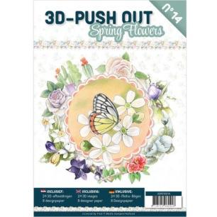 3D Utstansat - Bok - Spring Flowers - 3D Utstansat - Bok - Spring Flowers