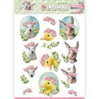 Amy Design 3D Utstansat - Spring is here - Baby Animals