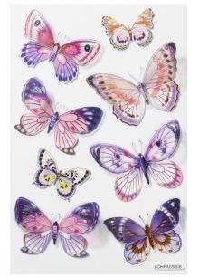 Stickers - Fjärilar, 8 st - Stickers - Fjärilar, 8 st