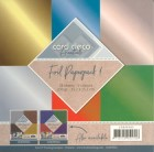 Papper - Card deco - Foiled Paperpack Metallic