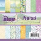 Jeaninés Art Pappersblock - Spring Landscapes
