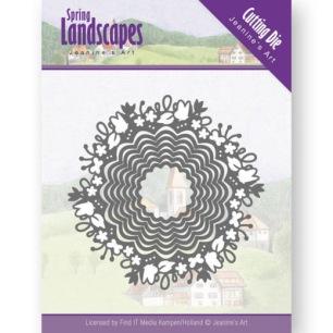 Jeanine´s Art - Dies - Spring Landscapes - Spring Scalloped Circle - Jeanine´s Art - Dies - Spring Landscapes - Spring Scalloped Circle