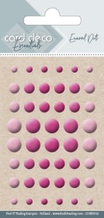 Card deco Essentials - Enamel Dots - Bright Pink - Card deco Essentials - Enamel Dots - Bright Pink