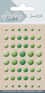 Card deco Essentials - Enamel Dots - Apple Green - Card deco Essentials - Enamel Dots - Apple Green