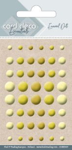 Card deco Essentials - Enamel Dots - Yellow - Card deco Essentials - Enamel Dots - Yellow