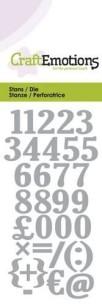 CraftEmotions - Die - Numbers - CraftEmotions - Die - Numbers