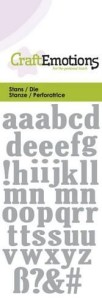 CraftEmotions - Die - Lowercase Alphabet - CraftEmotions - Die - Lowercase Alphabet