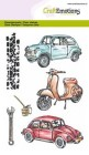 CraftEmotions A6 Clearstamp Set - Classic Cars 2