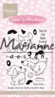 Marianne Design Clearstamp - Elinés Cute Animals - Puppies