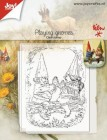 Joy Crafts - Clearstamp - Playing gnomes