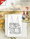 Joy Crafts - Clearstamp - Gnomes couple