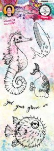 Art by Marlene - Clearstamps - Whimsical Swimmers - Art by Marlene - Clearstamps - Whimsical Swimmers