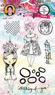 Art by Marlene - Clearstamps - Girlie Style - Art by Marlene - Clearstamps - Girlie Style