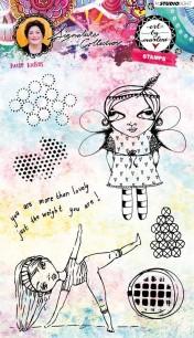 Art by Marlene - Clearstamps - Little ladies - Art by Marlene - Clearstamps - Little ladies