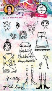 Art by Marlene - Clearstamps - Mix & match Girl Boss - Art by Marlene - Clearstamps - Mix & match Girl Boss