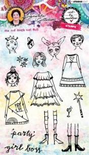 Art by Marlene - Clearstamps - Mix & match Girl Boss - Art by Marlene - Clearstamps - Mix & match Girl Boss