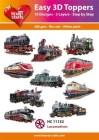 Easy 3D Utstansat - Locomotives