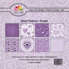 Dixi Craft Pappersblock - Heart Pattern/Purple