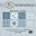 Dixi Craft Pappersblock - Heart Pattern/Teal Blue