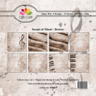 Dixi Craft Pappersblock - Sound of Music/Brown