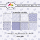 Dixi Craft Pappersblock - Wild Flowers/Lavender