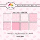 Dixi Craft Pappersblock - Wild Flowers/Light Pink