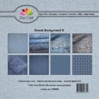 Dixi Craft Pappersblock - Denim Background II