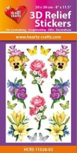 3D Relief Stickers - Flowers - 3D Relief Stickers - Flowers