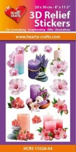 3D Relief Stickers - Candles - 3D Relief Stickers - Candles