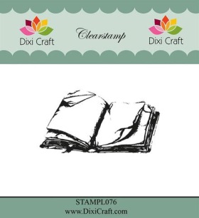 Dixi Craft - Clearstamp - Old book - Dixi Craft - Clearstamp - Old book
