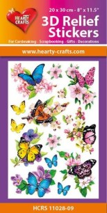 3D Relief Stickers - Butterflies - 3D Relief Stickers - Butterflies