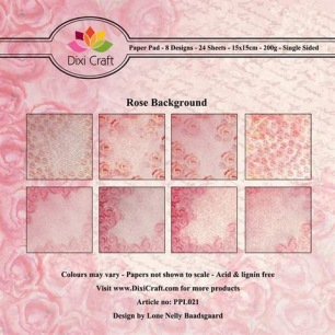 Dixi Craft Pappersblock - Rose Background - Dixi Craft Pappersblock - Rose Background