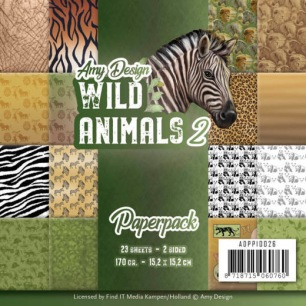 Amy Design Pappersblock - Wild Animals 2 - Amy Design Pappersblock - Wild Animals 2