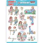 Yvonne Creation 3D Utstansat - Bubbly Girls - Me Time