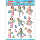 Yvonne Creation 3D Utstansat - Bubbly Girls - Shopping