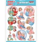 Yvonne Creation 3D Utstansat - Bubbly Girls - Mothers day