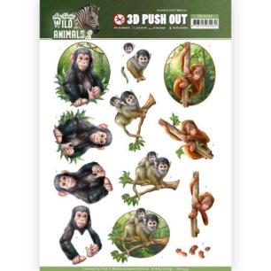 Amy Design 3D Utstansat - Wild Animals - Amy Design 3D Utstansat - Wild Animals