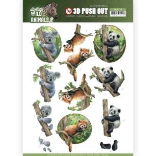Amy Design 3D Utstansat - Wild Animals 2 - Bears - Amy Design 3D Utstansat - Wild Animals 2 - Bears