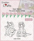 Nellie Snellen - Clearstamps - The pond and its animal - Crocodile