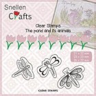 Nellie Snellen - Clearstamps - The pond and its animal - Butterflies