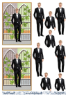 Barto Design 3D klippark - Konfirmation/Student, kille