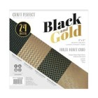 Craft Perfect - Pappersblock - Speciality Card Pack - Black & Gold