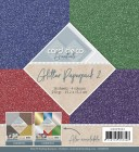 Card Deco - Pappersblock - Glitter Paperpack 2