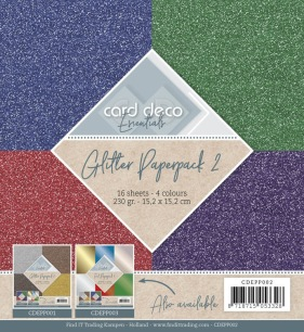 Card Deco - Pappersblock - Glitter Paperpack 2 - Card Deco - Pappersblock - Glitter Paperpack 2