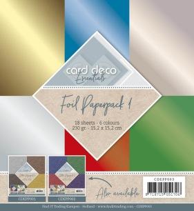 Card Deco - Pappersblock - Foil Paperpack 1 - Card Deco - Pappersblock - Foil Paperpack 1