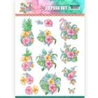 Yvonne Creation 3D Utstansat - Happy Tropics - Tropical Flowers