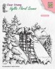 Nellie Snellen - Clearstamps - Santa Claus at work
