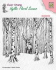 Nellie Snellen - Clearstamps - Deer in forest